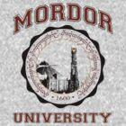 Mordor University by Bizarro Tees