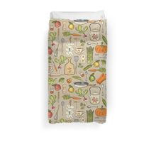 Retro kitchen. Duvet Cover