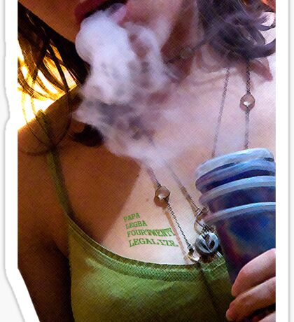 Herbal Tee vol. 1 - A lady and her pipe Sticker