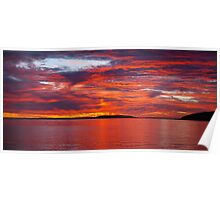Red sunset at night, farmers delight Poster