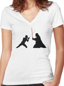 Star Wars Battlefront Women's Fitted V-Neck T-Shirt
