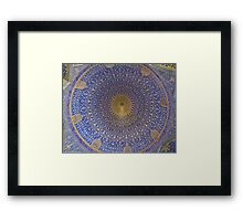 Inside The Dome of Imam Mosque - Isfahan - Iran Framed Print