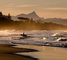 Byron Bay Sunset Surfer by MikeBJ