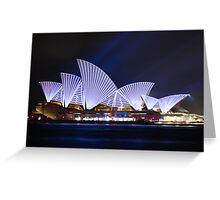 Vivid Sydney - Opera House Greeting Card