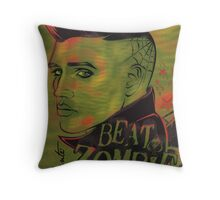 Beat Zombie Psychobilly Throw Pillow