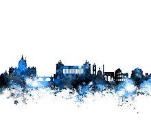 Rome Italy Skyline Photographic Print
