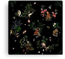Monkey World Canvas Print