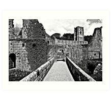 Footbridge Approach Art Print