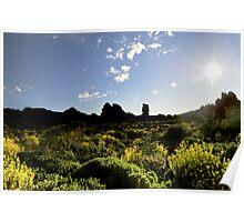 Sunburst, Teide, Tenerife Poster