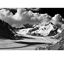 Clouds over the Aletsch Glacier Photographic Print