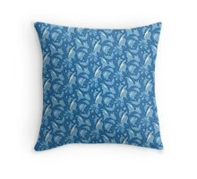 Blue butterfly dreams Throw Pillow