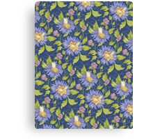 White butterfly pattern Canvas Print