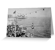 Bicycle In The Sky Steel Pier Performance By Jonathan Green Greeting Card