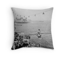 Bicycle In The Sky Steel Pier Performance By Jonathan Green Throw Pillow