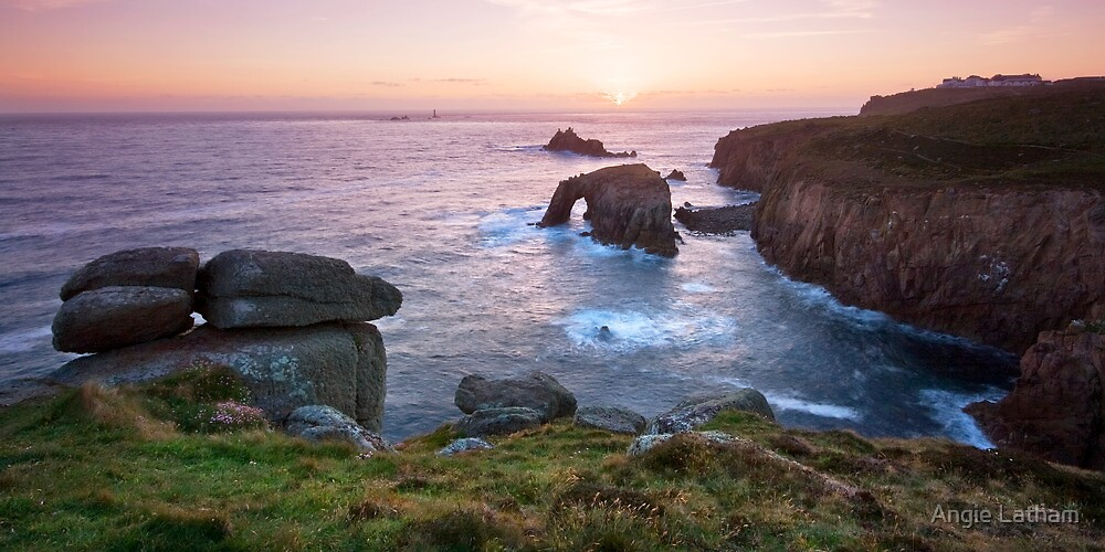 Cornwall: Landsend Sunset by Angie Latham