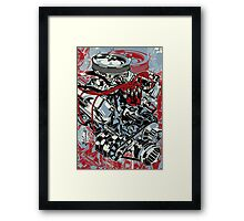 V8 POWER Framed Print