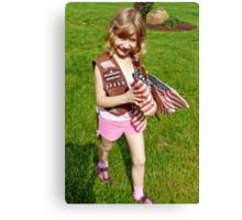 Flag Girl Canvas Print