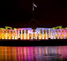 Enlighten - Parliament House #1 by Rod Thompson