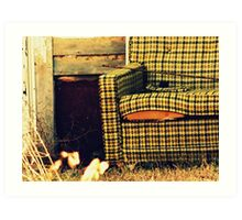 Picture yourself in the living room Art Print