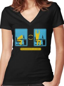 Programming in a nutshell Black Ed Women's Fitted V-Neck T-Shirt