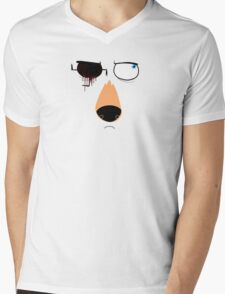 Schindler Face Mens V-Neck T-Shirt