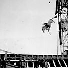 Steel Pier New Jersey Diving Horse Performance By Jonathan Green by Jonathan  Green