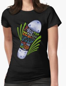 Tap Shoe Color - Dark Womens Fitted T-Shirt