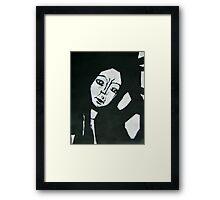 Angular Beauty in Black & White Framed Print