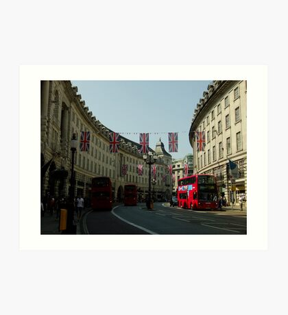 Regent Street, Royal Wedding decorations Art Print
