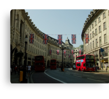 Regent Street, Royal Wedding decorations Canvas Print