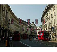 Regent Street, Royal Wedding decorations Photographic Print