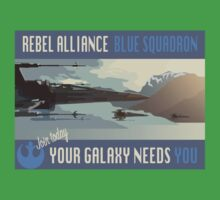 Rebel Alliance Blue Squadron Kids Tee