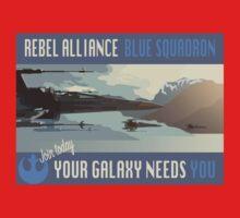 Rebel Alliance Blue Squadron Kids Clothes