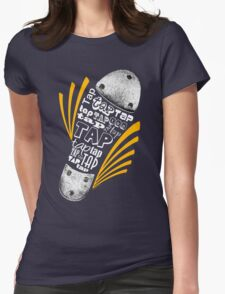 Tap Shoe Grayscale - Dark Womens Fitted T-Shirt