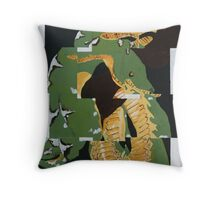 Puzzled Snake Throw Pillow