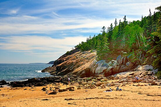 Sand Beach, Acadia National Park, Bar Harbor, Maine by fauselr