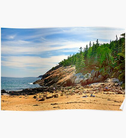 Sand Beach, Acadia National Park, Bar Harbor, Maine Poster