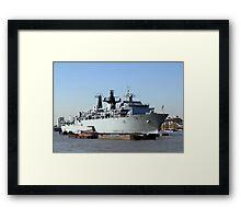 Warship HMS Bulwark Framed Print