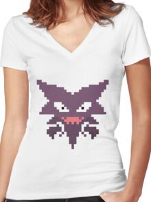Haunter pixel Women's Fitted V-Neck T-Shirt