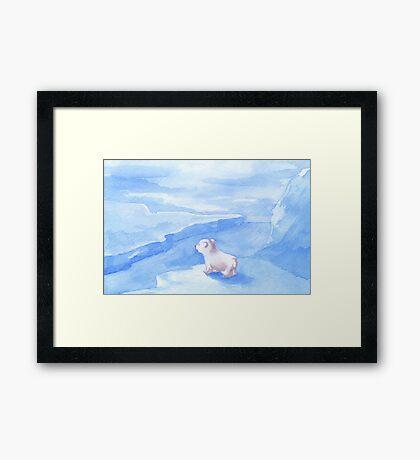 Baby Polar Bear Framed Print