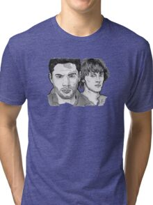 Supernatural - Winchesters - Sam and Dean - SN - Drawing Tri-blend T-Shirt