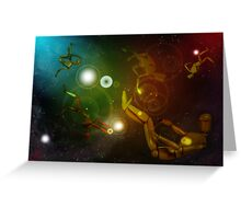 Lost In Space...Creatures Greeting Card
