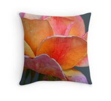 Eroded Rose Throw Pillow