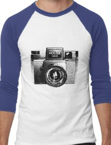 Holga 120S Black (Big) Men's Baseball ¾ T-Shirt