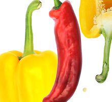 Yellow Pepper Red Pepper by cherryannette