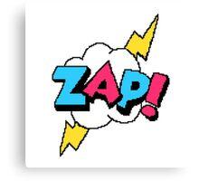 Zap! - pixel art Canvas Print