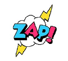 Zap! - pixel art Photographic Print