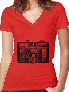 Holga 135 Black Women's Fitted V-Neck T-Shirt