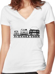 BMW M3 Evolution  Women's Fitted V-Neck T-Shirt