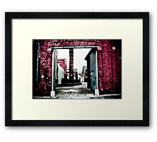 Graffiti with a lens Framed Print